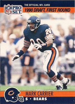 Mark-Carrier-1990-Pro-Set-647-Rookie-Card-Chicago-Bears