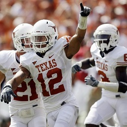 Earl Thomas (12) with the Longhorns